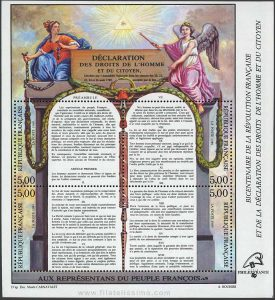 1989_francia_hb_bicentenario-de-la-revolucion-francesa_declaracion-de-los-derechos-humanos